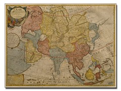 Paris Guillaume Delilse 'Map of Asia, 1700' Canvas Art