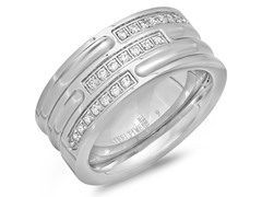 Men's Stainless Steel Ring w/ 4-Rows