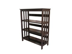 36 inch 3-Tier Mission Style Bookcase