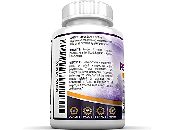 Bri Resveratrol Antioxidant Supplement