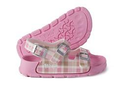 Pink Check 'Aruba' Sandal
