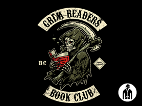 Grim Reader's Book Club Jersey Zip Hoodie