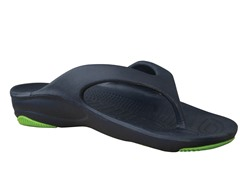 Women's Premium Flip Flop, Navy / Lime Green
