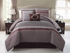 Saria 5pc Reversible Comforter Set - 2 Sizes
