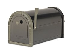 Bellevue Mailbox, Black with Bronze