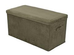 Folding Storage Bench - Sage