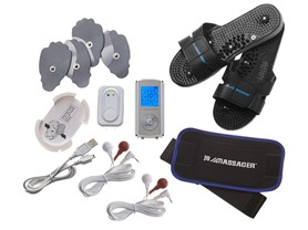 IQ Massager TENS Combo Set - Silver