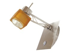 1-Light Satin Wall Sconce, Amber