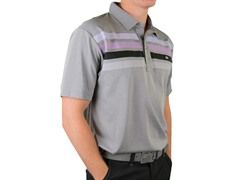 Travis Mathew Wilson Polo - Grey/Purple