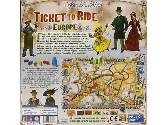 Days of Wonder Ticket To Ride - Europe