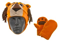 100% Micro-Fleece Lion Hat & Mittens Set