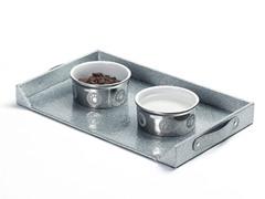 Glitter Silver Feeding Platter - Small