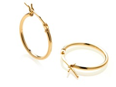 Edgewater 20mm Gold Plated Hoop Earring