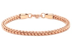 18kt Rose Gold Plated Box Bracelet