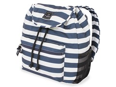 Wide Stripe Blue/White Backpack