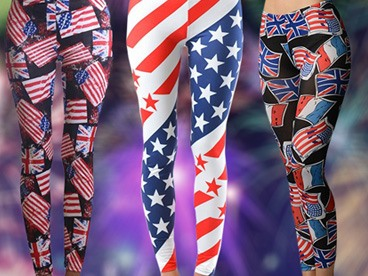 Dinamit Patriotic Flag Leggings