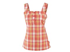 Women's Penelope Tank Top - Geranium Plaid