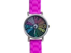 Starburst Logo Watch - Magenta Band