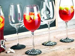 Chalk it Up 19oz Wine Glasses - Set of 4