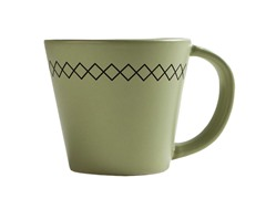K by Keaton 12oz K-Stitch Mug Grass Set of 6