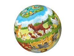 40-Pc Animals & Their Babies 3-D Puzzle Ball