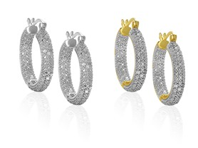 1/2CTTW Diamond Hoop Earrings
