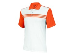 adidas Climacool 3-Stripes Polo, White/Sunset