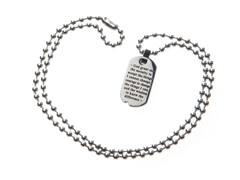Stainless Steel Dog Tag w/ Inspirational Psalm