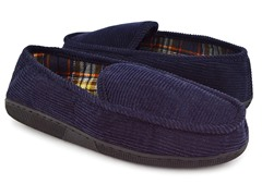 MUK LUKS ® Corduroy Moccasin w/ Flannel - 2 Colors
