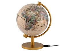 "5"" Antique Illuminated Globe"