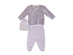 Grey Giraffe 3-Piece Set (0-9M)