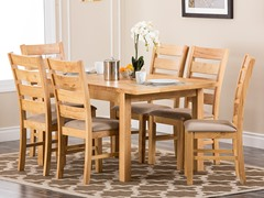 Novella Oak 7PC Dining Set