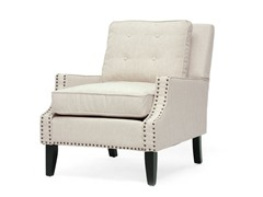 Norwich Linen Lounge Chair