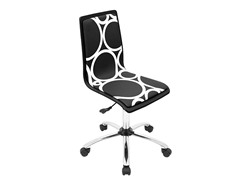 Lumisource Printed Black Circles Office Chair