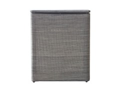 Standard Upright Hamper Silver/Black