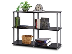 Turn n Tube 3-Tier Shelving Unit BLk/Grey
