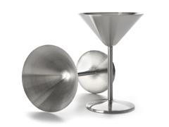 Oggi Stainless Martini Goblet - Set of 2