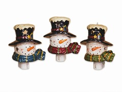 "5"" Snowman Night Light Set of 3"