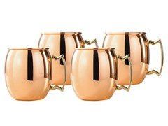 Solid Copper Moscow Mule Mugs-16 Oz S/4
