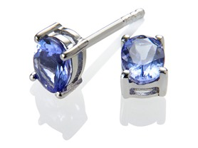 Sterling Silver & Tanzanite Earrings - 3 Sizes