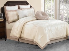 Hampshire 8pc Comforter Set-Champagne-2 Sizes