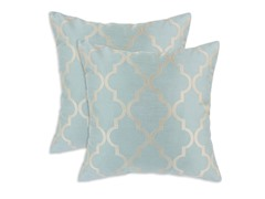 Decade Blue Spa 16x16 Pillows  - Set of 2