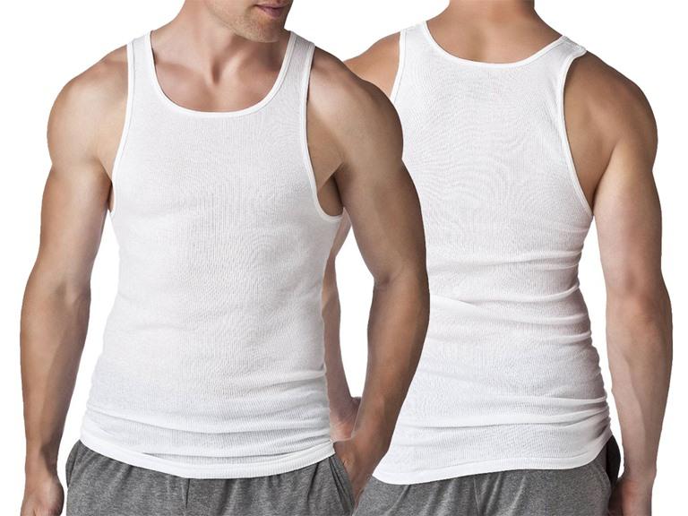 Men's 18-Pack Rib A-Shirts