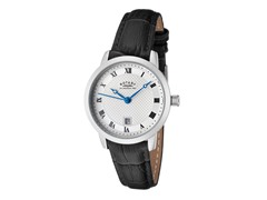 Women's Silver Dial / Black Leather