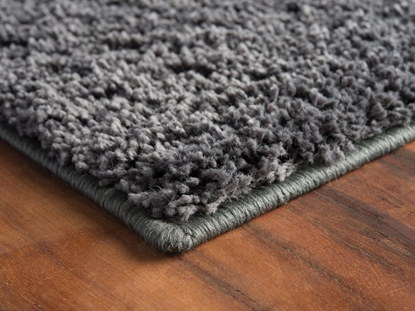 Cozy Charcoal Polypropylene Area Rug 4 Sizes