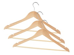 Wooden Hangers 72-pc (2-Colors)