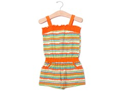 Orange Stripes Knit Romper (2T-4T)