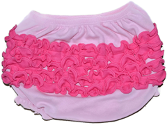 Ruffled Bloomer - Pink/Fuschia