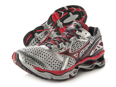 Mizuno Men's Wave Creation 12,Silver/Red