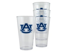 Auburn Tigers Plastic Pint Glasses 4-Pk